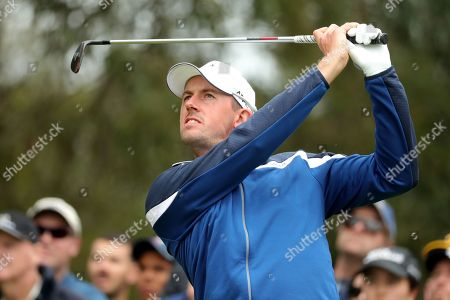 Alexander Bjork of Sweden hits a tee shot on two during the World Cup of Golf Tournament at The Metropolitan Golf Club in Melbourne, Australia, 25 November 2018.