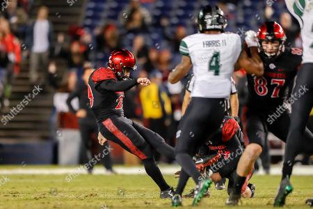 Editorial photo of NCAA Football Hawaii Rainbow Warriors vs San Diego State, San Diego, USA - 24 Nov 2018