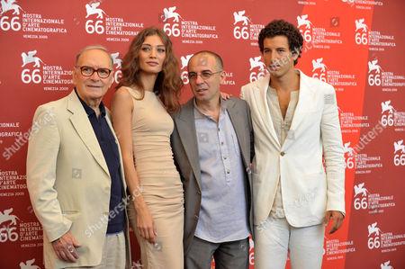 Ennio Morricone, Margaret Made, Giuseppe Tornatore and Francesco Scianna