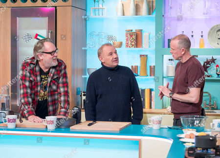 Vic Reeves and Bob Mortimer with Tim Lovejoy