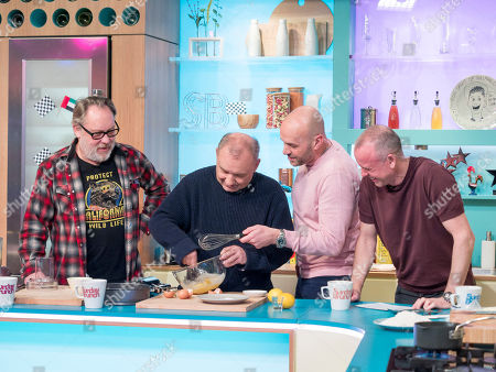 Vic Reeves and Bob Mortimer with Tim Lovejoy and Simon Rimmer