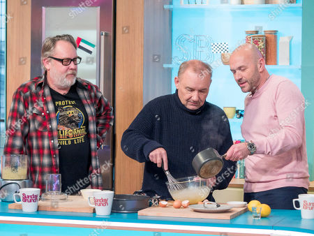 Vic Reeves and Bob Mortimer with Simon Rimmer