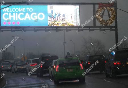 Editorial photo of Midwest Snowstorm Holiday Travel, Chicago, USA - 25 Nov 2018