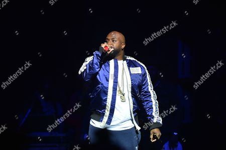 Stock Picture of Rico Love performs on stage