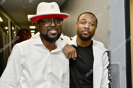 Marvin Dixon and Tank backstage