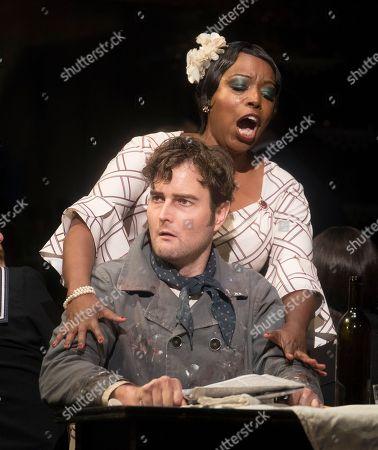 Nadine Benjamin as Musetta, Nicholas Lester as Marcello
