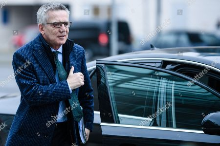 Former German Interior Minister Thomas de Maiziere arrives for a meeting of the presidium of the Christian Democratic Union (CDU), in Berlin, Germany, 26 November 2018. The CDU presidium is one of the party committees meeting on a regular basis.