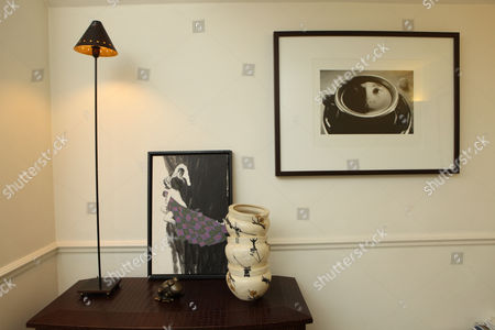 A corner of the living room at the home of Rabih Hage in Chelsea