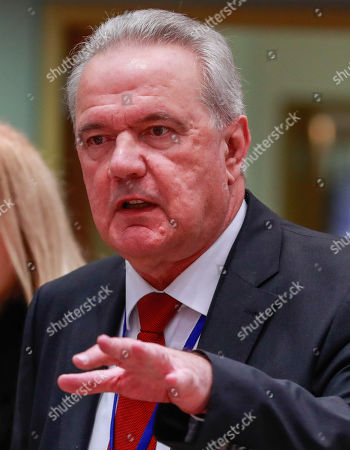 Commissioner for International Cooperation and Development of the European Union Neven Mimica at the start of an EU Foreign Affairs Council (FAC) meeting on Development at the European Council in Brussels, Belgium, 26 November 2018. Development ministers will exchange views on the ongoing work on the Africa - Europe alliance for sustainable investment and jobs.