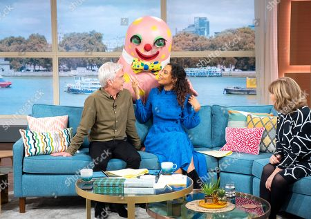 Phillip Schofield, Rochelle Humes, Maggie Philbin and Mr Blobby