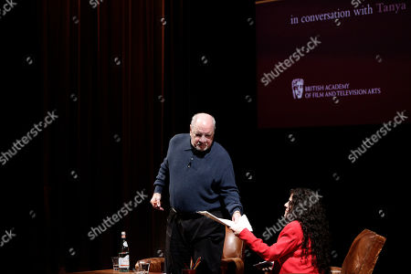 Stock Picture of Paul Schrader and Tanya Seghatchian