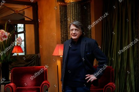 """Merlin Holland, grandson of Oscar Wilde, poses during a photocall for the film """"The Happy Prince"""" in Paris"""