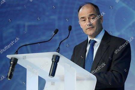 Stock Photo of Chief Executive of Rolls Royce Warren East attends a ceremony of delivering the first Airbus A330-Neo passenger plane to TAP Air Portugal in Colomiers near Toulouse, France, 26 November 2018. TAP Portugal presently has 70 Airbus aircraft in their fleet.