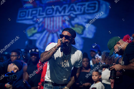 Editorial photo of The Diplomats in concert at The Apollo Theater, New York, USA - 23 Nov 2018