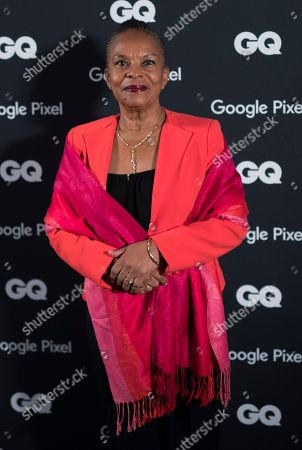 Former French justice Minister Christiane Taubira attends the GQ Men of the Year awards 2018 hosted at the Pompidou center in Paris, France, 26 November 2018. The awards are presented by international monthly men's magazine GQ.