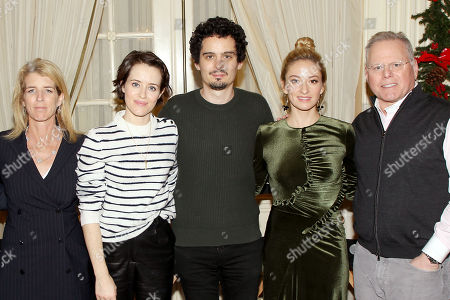 Rory Kennedy (Director Above And Beyond), Claire Foy, Damien Chazelle (Director First Man), Olivia Hamilton, David Zaslav (CEO Discovery)