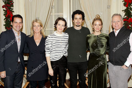 Dave Karger (moderator), Rory Kennedy (Director Above And Beyond), Claire Foy, Damien Chazelle (Director First Man), Olivia Hamilton, David Zaslav (CEO Discovery)