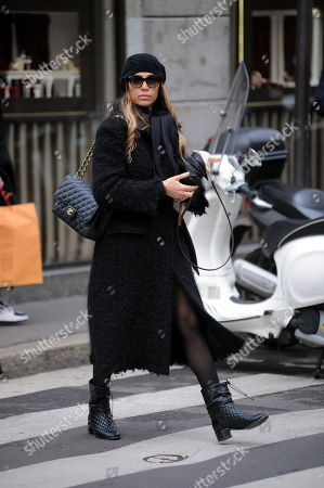 Editorial image of Cecilia Capriotti out and about, Milan, Italy - 26 Nov 2018