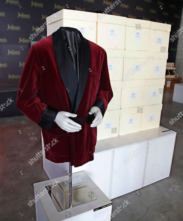 Hugh Hefner's famed evening jacket and his personal collection of Playboy magazines are displayed as part of the Julien's auction of famed Playboy magazine creator Hugh Hefner's belongings in Beverly Hills, California, USA, 26 November 2018. Hugh Hefner died at the age of 91 on 27 September 2017. The auction of Hefner's personal belongings will take place 30 November and 01 December 2018.
