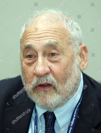 Joseph Stiglitz, a professor of Columbia University, attends the OECD World Forum on Statistics, Knowledge and Policy in Incheon, South Korea, 27 November 2018. The two-day forum, the sixth of its kind, is themed on the future of well-being to consider trends that will affect people's lives in the coming decades.