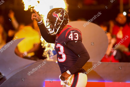 Houston Texans defensive back Shareece Wright (43) takes the field before the start of the game against the Tennessee Titans at NRG Stadium in Houston, TX