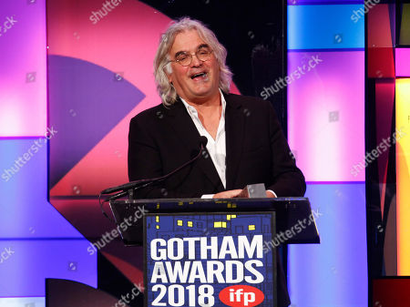 Paul Greengrass accepts the tribute award at the 28th annual Independent Filmmaker Project's Gotham Awards at Cipriani Wall Street, in New York