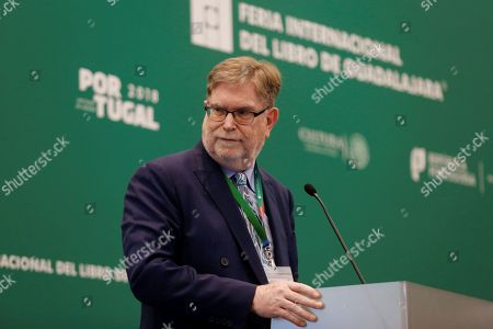 US physicist and astronomer, Nobel Prize recipient in physics in 2006, George F. Smoot, participates in the lecture 'Gravitational Waves: Albert Einstein's legacy', during the Guadalajara International Book Fair (FIL), in Guadalajara, Jalisco, Mexico, 26 November 2018.