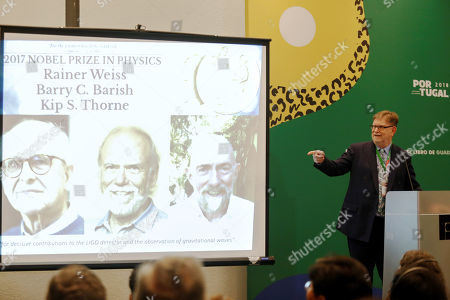 Editorial picture of George Smoot predicts rise of astronomy with gravitational waves at FIL, Guadalajara, Mexico - 26 Nov 2018