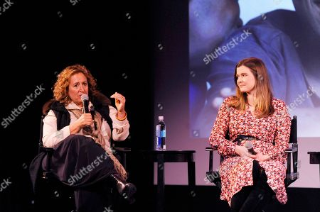 "Kim Snyde, Meaghan Condon. Kim Snyder and Meaghan Condon discuss the making of ""The Last Mile"" and the continued fight against HIV/AIDS at the Coca-Cola (RED) event during a panel discussion at the Prince Theater on in Philadelphia"