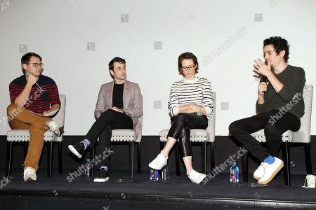 Benj Pasek (moderator), Justin Hurwitz (composer), Claire Foy, Damien Chazelle (Director)