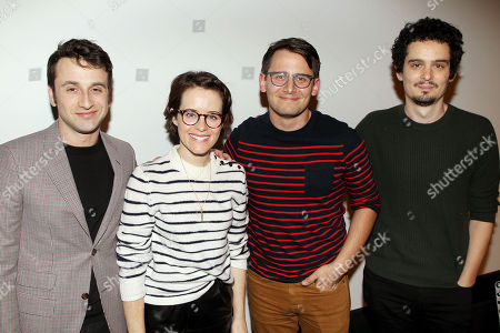 Justin Hurwitz (composer), Claire Foy, Benj Pasek (moderator), Damien Chazelle (Director)