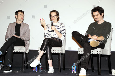 Justin Hurwitz (composer), Claire Foy, Damien Chazelle (Director)