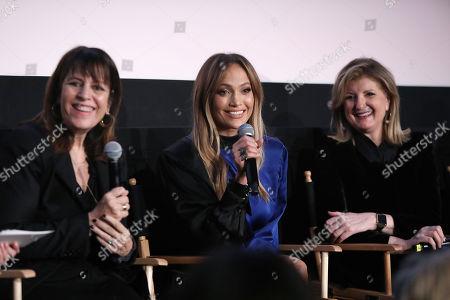 Elaine Goldsmith-Thomas, Jennifer Lopez and Arianna Huffington