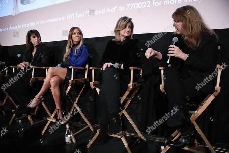 Elaine Goldsmith-Thomas, Jennifer Lopez, Arianna Huffington and Dr. Stacy L. Smith