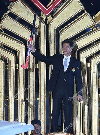 Indian Bollywood star Shahrukh Khan participates during the opening ceremony of the men's Field Hockey World Cup 2018 in Bhubaneswar, India, 27 November 2018. The Field Hockey World Cup will take place from 28 November until 16 December 2018 in Bhubaneswar, Odisha.