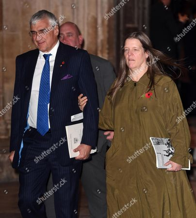 Sir Michael Hintze with his wife Dorothy Hintze