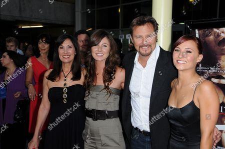 Vanessa Evigan With Pamela Serpe, Greg Evigan and daughter Briana Evigan