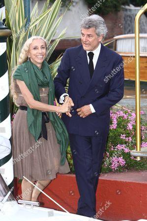 Alain Elkann and Franca Sozzani
