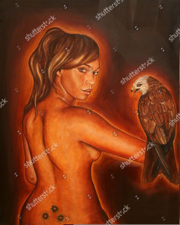 Nude with Eagle