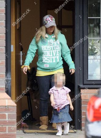 Kerry Katona and one of her children