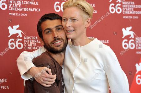 Edoardo Gabbriellini  with Tilda Swinton