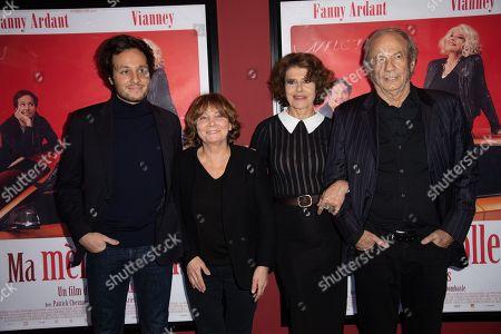 Stock Image of Vianney, Diane Kurys, Fanny Ardant, Patrick Chesnais