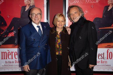 Bernard Cazeneuve, his wife Monique and Alexandre Arcady