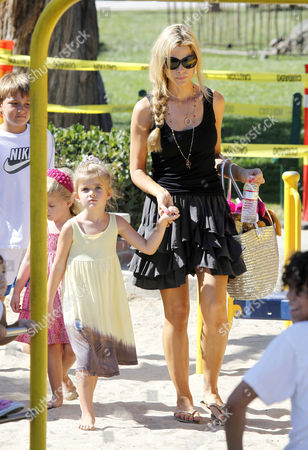 Denise Richards with daughters,Lola Rose Sheen-Estevez and Sam J Sheen-Estevez