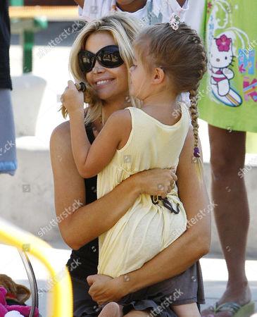 Denise Richards with daughter, Sam J Sheen-Estevez
