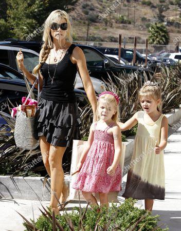 Denise Richards with daughters, Lola Rose Sheen-Estevez and Sam J Sheen-Estevez