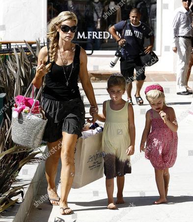 Denise Richards with daughters, Sam J Sheen-Estevez  and Lola Rose Sheen-Estevez