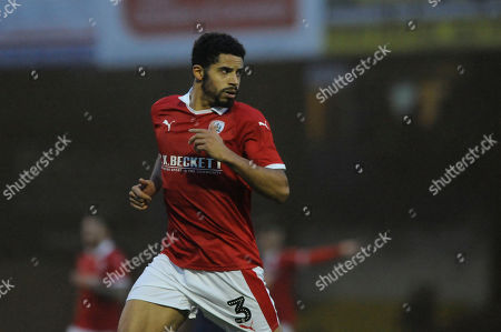 Zeki Fryers of Barnsley in action during the FA Cup Second Round match between Southend United and Barnsley at Roots Hall in Southend, UK - 1st December 2018