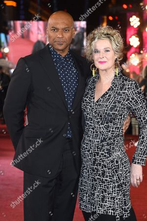 Stock Photo of Colin Salmon and Fiona Hawthorne