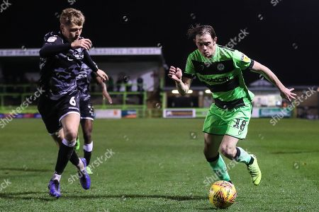 Forest Green Rovers Theo Archibald(18) runs forward during the EFL Sky Bet League 2 match between Forest Green Rovers and Colchester United at the New Lawn, Forest Green